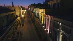 Ruas do centro da noite de Mazatlan aéreas Imagem de Stock Royalty Free