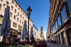Ruas do centro de Munich Fotografia de Stock