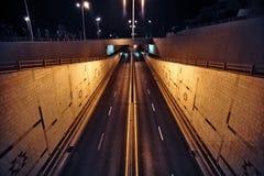 Ruas do nighttime Fotografia de Stock