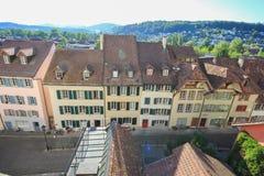 Ruas e construções de Aarau, Suíça Foto de Stock