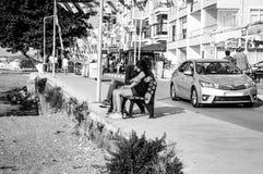Ruas e povos da cidade turca das férias de verão Imagem de Stock