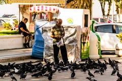 Ruas e povos da cidade turca das férias de verão Imagens de Stock Royalty Free