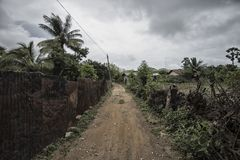 Ruas em Thondaimanaru Sri Lanka imagem de stock royalty free
