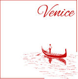 Ruas em Veneza Fotografia de Stock Royalty Free