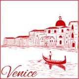 Ruas em Veneza Foto de Stock
