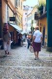 Ruas estreitas de Bellagio imagem de stock royalty free