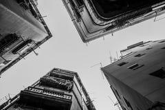 Ruas estreitas no centro de cidade de Barcelona Imagem de Stock Royalty Free