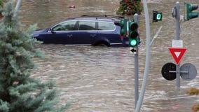 Ruas inundadas vídeos de arquivo