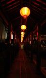 Ruas - lanternas chinesas Fotografia de Stock Royalty Free