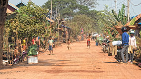 Ruas na seiva de Tonle, Camboja imagem de stock royalty free