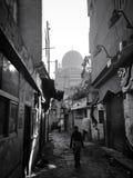 Ruas no Cairo preto e branco Fotografia de Stock