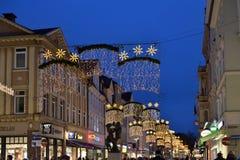 Ruas no centro histórico de Gottingen Foto de Stock Royalty Free