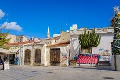Ruas traseiras de Limassol fotografia de stock