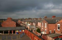 Ruas traseiras de Preston. Fotografia de Stock