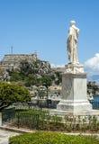 Ruas velhas, cidade de Corfu Imagens de Stock