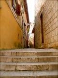 Ruas velhas da cidade Fotos de Stock Royalty Free
