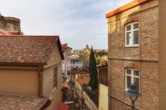 Ruas velhas em Tbilisi Fotografia de Stock