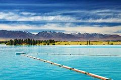 Ruataniwha sjö, Nya Zeeland Fotografering för Bildbyråer