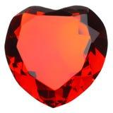 Rubí en forma de corazón Imágenes de archivo libres de regalías