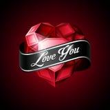 Rubí heart2 del vector Foto de archivo libre de regalías