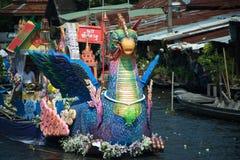 Rub Bua Festival ( Lotus Throwing Festival ) in Thailand. Royalty Free Stock Image