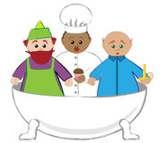 Rub a Dub Dub Nursery Rhyme Royalty Free Stock Photo
