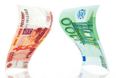 Rub-euro. Royalty Free Stock Photo