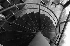 Śruba, drewnianego schody odgórny widok Obraz Royalty Free