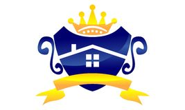 Ruban à la maison de couronne illustration libre de droits