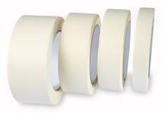 8ba4a9e725333 Ruban - bande de Krepp de papier, ruban blanc crème, quatre images stock