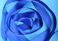 Ruban bleu Photographie stock