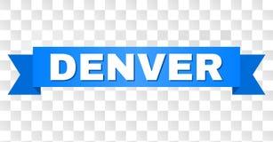 Ruban bleu avec DENVER Text illustration stock
