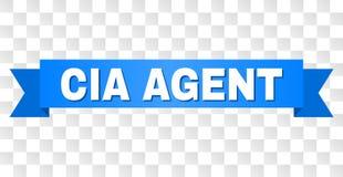 Ruban bleu avec l'AGENT DE LA CIA Title illustration stock