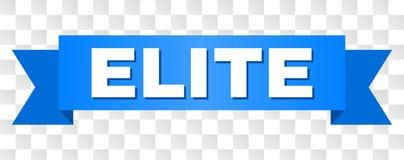 Ruban bleu avec le texte d'ÉLITE illustration libre de droits