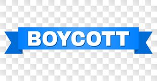 Ruban bleu avec le texte de BOYCOTT illustration libre de droits