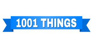 Ruban bleu avec le texte de 1001 CHOSES Illustration de Vecteur