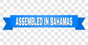 Ruban bleu avec RÉUNI au titre des BAHAMAS illustration stock