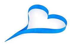 Ruban bleu de coeur Image libre de droits