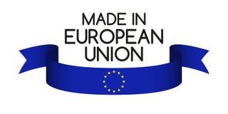 Ruban coloré avec les couleurs de l'Union européenne Photographie stock libre de droits