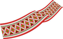 Ruban coloré - décoration avec les ornements slaves colorés Images stock