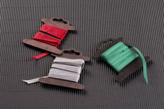 Ruban coloré de cadeau Trois couleurs Images stock