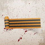Ruban d'imprimante par ligne de textile de Victory Day Saint George Images stock