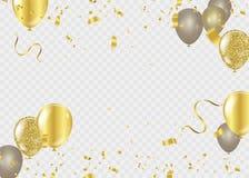 Ruban de calibre de fond de célébration Étincelles d'or S élégant Image libre de droits