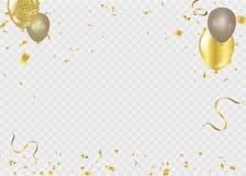 Ruban de calibre de fond de célébration Étincelles d'or S élégant Image stock