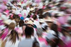 Ruban de conscience de cancer du sein Photos libres de droits