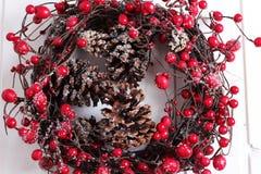 Ruban de Noël sur un fond blanc Images libres de droits