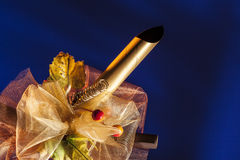 Ruban de parsel de cadeau photographie stock libre de droits