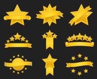 Ruban de récompense de vecteur avec l'étoile d'or illustration libre de droits