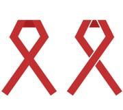 Ruban de rouge d'illustration de Journée mondiale contre le SIDA Photographie stock
