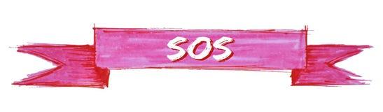 ruban de SOS illustration libre de droits